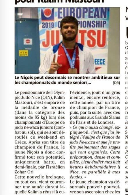 La médaille de Bronze pour Kalim Mastouri