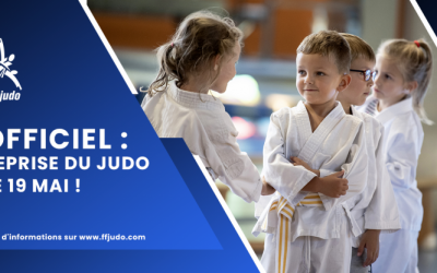 Reprise du judo pour les mineurs le 19 mai.